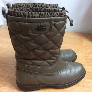 Coach Samara Quilted Winter Boots Sz 6.5B Brown
